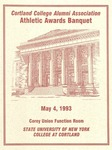 1993 Athletic Awards Banquet