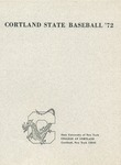 1972 Team Guide, Baseball by State University of New York College at Cortland