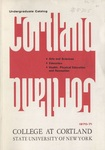 1970-1971 Undergraduate College Catalog by State University of New York College at Cortland