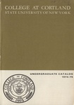 1974-1975 Undergraduate College Catalog by State University of New York College at Cortland