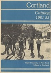 1981-1983 Undergraduate & Graduate College Catalog by State University of New York College at Cortland