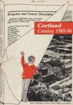 1985-1986 Undergraduate & Graduate College Catalog by State University of New York College at Cortland