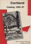 1986-1987 Undergraduate & Graduate College Catalog by State University of New York College at Cortland