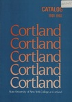 1991-1992 Undergraduate & Graduate College Catalog by State University of New York College at Cortland
