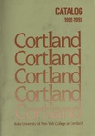 1992-1993 Undergraduate & Graduate College Catalog by State University of New York College at Cortland