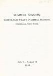 1933 Summer College Catalog