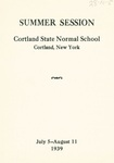 1939 Summer College Catalog