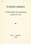 1940 Summer College Catalog