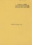 1972 Summer College Catalog
