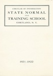 1921-1922 College Circular by State University of New York College at Cortland