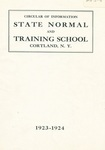 1923-1924 College Circular by State University of New York College at Cortland