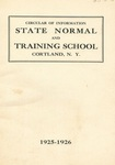 1925-1926 College Circular by State University of New York College at Cortland
