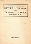 1926-1927 College Circular by State University of New York College at Cortland