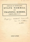 1927-1928 College Circular by State University of New York College at Cortland