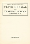 1928-1929 College Circular by State University of New York College at Cortland