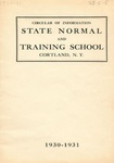 1930-1931 College Circular by State University of New York College at Cortland