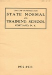1932-1933 College Circular by State University of New York College at Cortland
