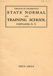 1933-1934 College Circular by State University of New York College at Cortland