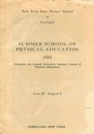 1924 Physical Education Catalog by State University of New York College at Cortland