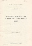 1927 Physical Education Catalog by State University of New York College at Cortland