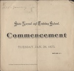 1875 Commencement Program