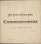 1875 Commencement Program