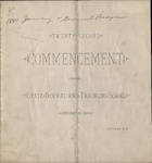 1881 Commencement Program