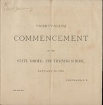1883 Commencement Program