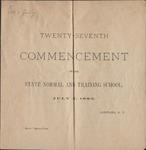 1883 Commencement Program