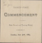 1885 Commencement Program