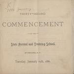 1886 Commencement Program
