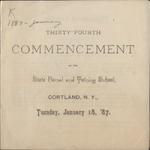 1887 Commencement Program