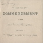 1888 Commencement Program