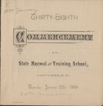 1889 Commencement Program