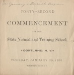 1891 Commencement Program