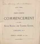 1892 Commencement Program
