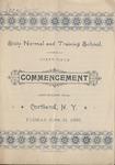 1892 Commencement Program