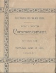 1895 Commencement Program