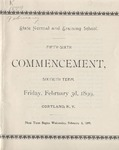 1899 Commencement Program