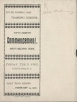 1900 Commencement Program