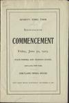 1905 Commencement Program