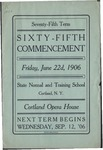 1906 Commencement Program