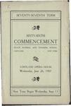 1907 Commencement Program