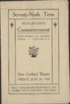 1908 Commencement Program