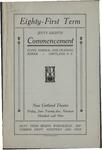 1909 Commencement Porgram