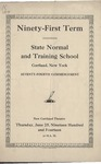 1914 Commencement Program