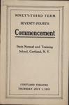 1915 Commencement Program