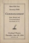 1916 Commencement Program