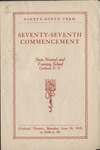 1918 Commencement Program