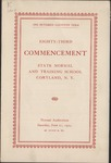 1924 Commencement Program